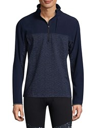 Mpg Panel 2.0 Colorblock Zip Up Pullover Navy