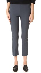Vince Stitch Front Seam Legging Pants Dark Grey