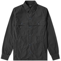 Save Khaki Poplin Camp Shirt Jacket Black