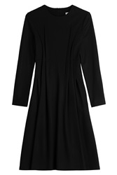 Jil Sander Fleece Wool Dress Black