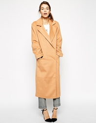 Asos Coat In Oversized Fit Camel