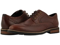 Nunn Bush Oakdale Wingtip Oxford With Kore Walking Comfort Technology Rust Lace Up Wing Tip Shoes Red