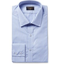 Emma Willis Blue Slim Fit Checked Cotton Shirt Navy
