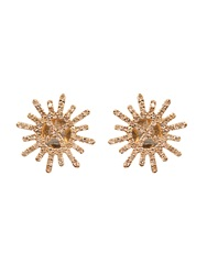 Jade Jagger Diamond And Yellow Gold Star And Garter Earrings