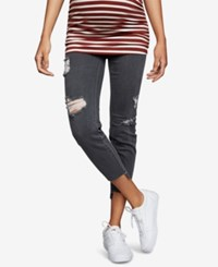 A Pea In The Pod Maternity Cropped Skinny Jeans Grey