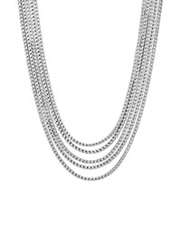 John Hardy Sterling Silver Classic Chain Five Row Necklace 16