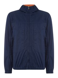 Duck And Cover Signal Light Weight Hooded Jacket French Navy