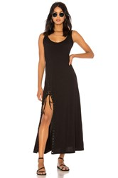 Kendall Kylie Lace Up Tank Dress Black