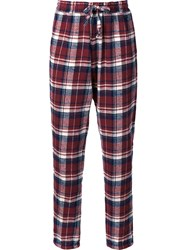 Faith Connexion Checked Track Pants Red