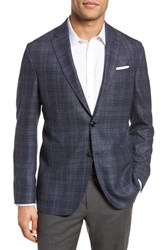 Ted Baker London Kyle Trim Fit Plaid Silk And Wool Sport Coat Grey