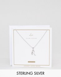 Johnny Loves Rosie Sterling Silver Zodiac Leo Necklace Silver