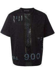 Diesel Black Gold Printed Numbers T Shirt Black