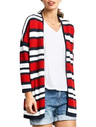 Hush Beauvoir Knit Jacket Racing Red White Salute