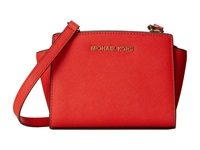 Michael Michael Kors Selma Mini Messenger Mandarin Cross Body Handbags Orange
