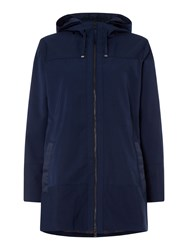 Gant Double Decker Hooded Coat Blue
