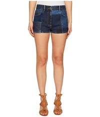 Mcq By Alexander Mcqueen Patched 70S Hotpants Indigo Women's Shorts Blue