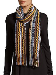 Missoni Southwestern Hat And Scarf Set Brown