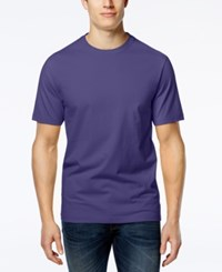 Club Room Men's Big And Tall Solid Crew Neck T Shirt Only At Macy's Purple Yam
