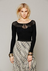 Intimately Cut Out Neck Long Sleeve Top