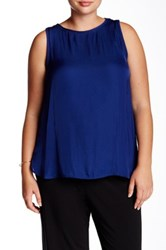 Tart Ciara Sleeveless Blouse Plus Size Blue