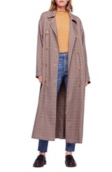 Free People Melody Trench Coat Neutral Combo