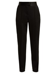 Msgm High Rise Jersey Trousers Black