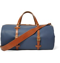 Miansai Leather Trimmed Coated Canvas Holdall Blue
