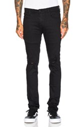 Stampd Essential Knee Split Denim In Black