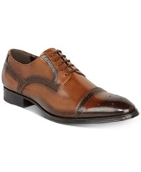 Tallia Men's Bonito Cap Toe Oxfords Men's Shoes Cognac
