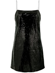 Laneus Embellished Sequin Dress Black