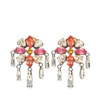 Shourouk Isis Small Pink Earrings