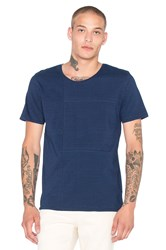 Nudie Jeans Patched Tee Blue