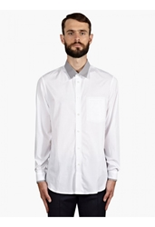Jonathan Saunders Men's White Contrast Collar Cotton Shirt