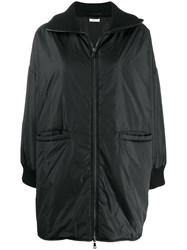 P.A.R.O.S.H. Padded Zip Front Coat Black
