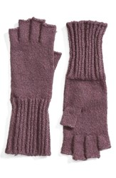 Caslonr Women's Caslon Knit Fingerless Gloves Purple Vintage