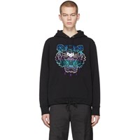 Kenzo Black Limited Edition Holiday Tiger Hoodie