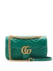 Gucci Gg Marmont Quilted Leather Shoulder Bag Green