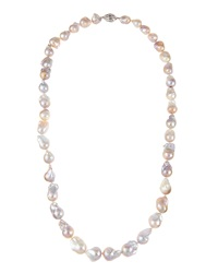 Belpearl Long Multicolored Baroque Freshwater Pearl Necklace
