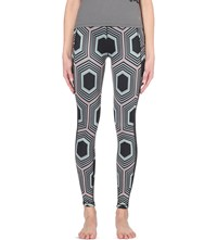 Sweaty Betty Amrita Reversible Yoga Leggings Geometic Print