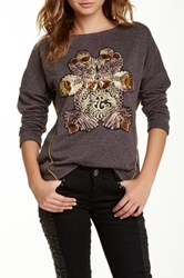 Custo Barcelona Embroidered Sweatshirt Gray