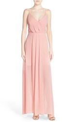 Women's Adelyn Rae Cutout Back Chiffon Maxi Dress Light Pink