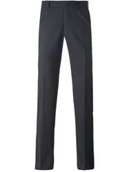 Ermenegildo Zegna Tailored Trousers Men Viscose Wool 48 Grey