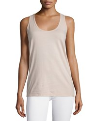 Johnny Was Basic Scoop Neck Cotton Tank Blush