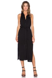 Heather Collared Shirt Dress With Slip Black