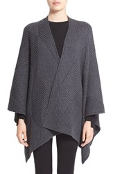 Rag And Bone Women's Rag And Bone 'Blithe' Merino Wool Poncho Grey Charcoal
