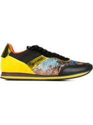 Etro Panelled Sneakers Yellow And Orange