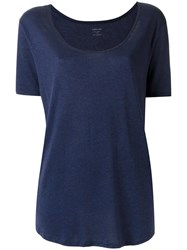 Osklen Scoop Neck T Shirt Blue
