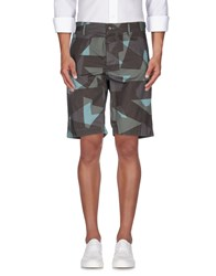 Replay Trousers Bermuda Shorts Men Military Green
