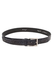Ivo Scunzani Crocodile Leather Belt Black