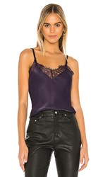 7 For All Mankind Lace Trim Cami In Purple. Royal Purple